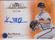 2014 Topps Tribute Kris Medlen /40 Auto ORANGE Atlanta Braves