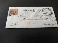 Bayern Charge 6 Kr., gMR 360 Obergünzburg -> Weinhandlung Neuner (München) 1861