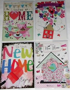 29p GREAT PRICE! 'NEW HOME' CARDS X 36  FREE POSTAGE, 6 DESIGNS X 6, WRAPPED