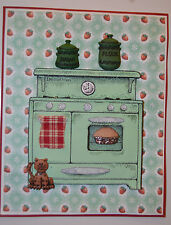 Old Cook Stove (U get photo # 2) L@@k@example Too Much Fun rubber stamps