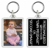 Double Sided Key Ring Personalised With Your Own Photos