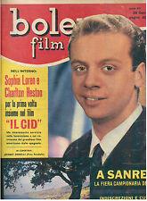 BOLERO FILM ANNO XV N. 717 29 GENNAIO 1961 JOHNNY DORELLI SOPHIA LOREN C. HESTON