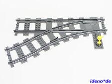 LEGO FERROCARRIL TREN Suave IZQUIERDA vías 1 Unidades neudunkelgrau 53407