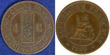 INDOCINA FRANCESE 1 CENTIME 1889 A VF #4280
