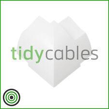 D-Line 22x22mm Quadrant TV Floor Cable Tidy - External Bend Connector