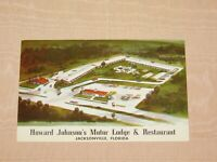 VINTAGE HOWARD JOHNSON'S MOTOR LODGE & RESTAURANT JACKSONVILLE FLORIDA POSTCARD