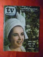 New York TV Magazine guide October6 1963 ELIZABETH TAYLOR Barbara Eden Petticoat