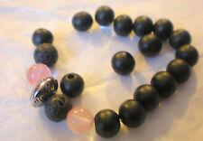KIT Bracelet yoga zen aux perles divine AGATE ROSE 8 mm
