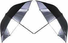 "2 x 33"" 84cm Photography Studio Reflective Lighting Black/Silver Umbrella"