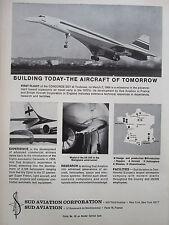 5/1969 PUB SUD AVIATION CONCORDE CARAVELLE AIRLINERS SA.340 ORIGINAL AD