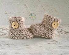 Fawn Handmade Crochet Knitted Baby Booties Shoes Socks / Pregnancy Announcement