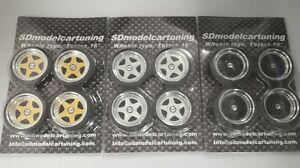 1:18 Scale OZ FUTURA 16 INCH TUNING WHEELS WITH SEVERAL COLOR OPTIONS, NEW!!