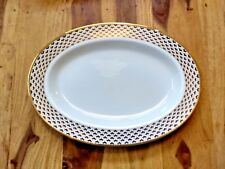 """Tiffany & Co Manhattan Blue 1994 16.5"""" Oval Serving Platter Replace Chipped"""