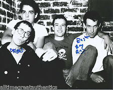 DEAD KENNEDYS GROUP HAND SIGNED AUTHENTIC AUTOGRAPH 8X10 PHOTO w/COA PROOF X2