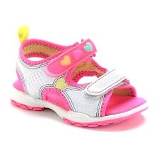 Carter's Girls Sandals Shoes Size 11 Light Up Easy On/Off White Pink Hearts New