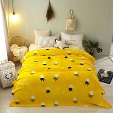 Yellow Pineapple Blanket Soft Flannel Bedding Sleep Blanket Throws 120*200cm