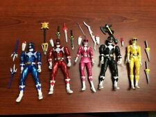 Power Rangers Legacy Collection Metallic Figures Red Pink Blue Yellow Black