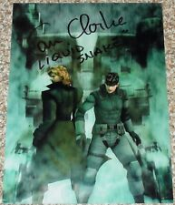 "Autographed METAL GEAR SOLID Photo Signed By CAM CLARKE ""LIQUID SNAKE"""