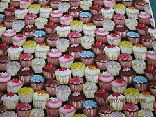 CUP CAKES & MORE CUP CAKES, VERY CUTE by TIMELESS TREASURES 100% COTTON NEW 1 YD