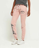 Superdry Womens Aria Applique Slim Joggers Label Shady Pink Ship World