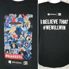 San Jose Earthquakes Mls Soccer Sga T-Shirt Xl Quakes 74 We Will Win Microsoft
