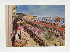 "HENRI MATISSE "" FESTIVAL OF FLOWERS"" Plate Signed Lithograph"