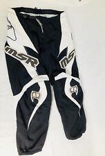 MSR Axxis Racing Pants  Black & White Motocross Dirt Bike Size Adult 28