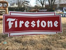 Antique Vintage Old Style Firestone Tires Sign