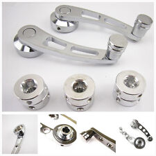 One Set Chrome Aluminum Billet Automobile Manual Window Winders Crank Handle Kit