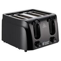 Russell Hobbs Toaster, 4 Slice Toaster, Black