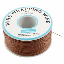 Brown PVC Coated Tin Plated Copper Cable Wrapping Wire 305M 30AWG Cable Reel DT