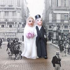 Feve Ancienne Allemande Mariés Hertwig & Co Biscuit 28 mm 1920 Mariage Figurine