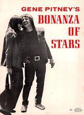 SONNY & CHER / GENE PITNEY SIGNED 1965 BONANZA OF STARS PROGRAM BOOK / NMT