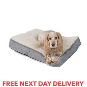 Dog Pet Cat Bed Mat Mattress Luxury Washable Padded Soft Cosy Warm Plush Fleece