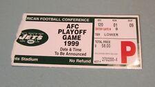 January 10 1999 New York Jets Jacksonville Jaguars Football Playoff Ticket Stub