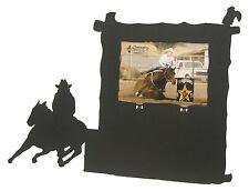Barrel racing black metal 8x10 Vertical award picture frame