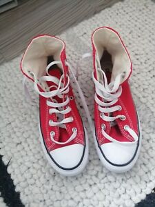 CLASSIC Red All Star High Top CONVERSE  (Size 3)