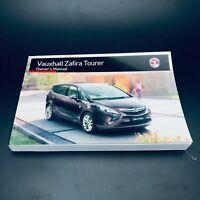 Vauxhall ZAFIRA TOURER Owners handbook Manual To 2012 To 2016 Inc Vat Freepost