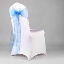 Organza Chair Cover Sash Bow Wedding Party Reception Banquet Decor Sewn Edge