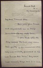 1943 A/Letter Field Marshall John Gort V.C. to Major General Sir John Ponsonby