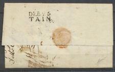 1819 Lettre marque linéaire DEB 25/TAIN 21*10, DROME Superbe X4025