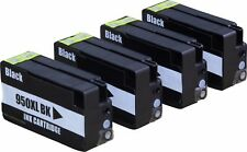 4 Pack 950XL Black Ink Cartridge For HP OfficeJet Pro 8100 8600 8610 8615 8620