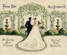 Cross Stitch Kit ~ Janlynn Bride & Groom Wedding Marriage Record #054-0074