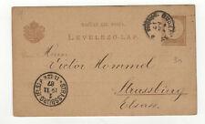Hongrie entier postal sur carte postale 1887  /L362