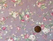 DUSKY PINK WITH PINK & CREAM ROSES 100% COTTON FABRIC FQ'S