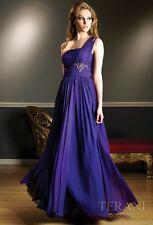 New Purple Chiffon One Shoulder Formal Evening Bridesmaid Prom Dress Au Sz 6