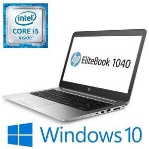 """HP EliteBook 1040 G3 Laptop Intel i5 6200U 8G 128GSSD 14"""" FHD HDMI Win 10 USB-C"""