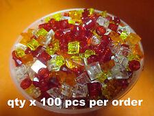 LEGO Assorted Lot 1x1 Transparent Small Pieces Tiles Plates Studs Slopes 100 Pcs