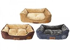 Large Luxury Dog Bed Puppy Pets Cat Cushion Pillow Mattress Faux Suede Warm Soft