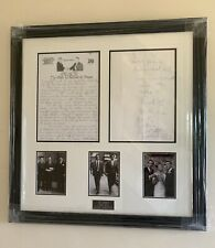 More details for reduced from £800! framed,the krays picture original letter reggie, certificate.